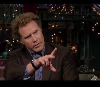 Will Farrell on Late Night With David Letterman